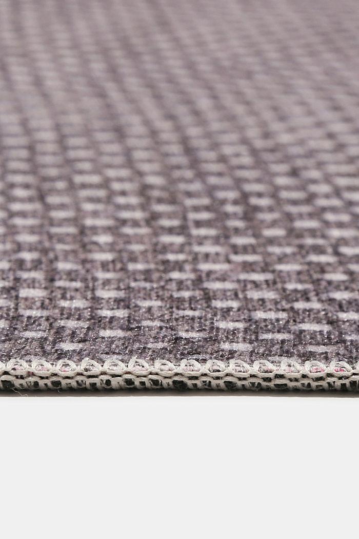 Kurzflor-Teppich mit upgecycelter Baumwolle, GREY, detail image number 5