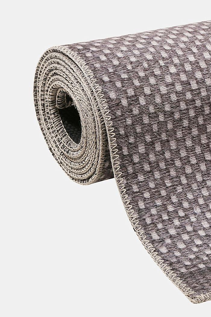 Kurzflor-Teppich mit upgecycelter Baumwolle, GREY, detail image number 3