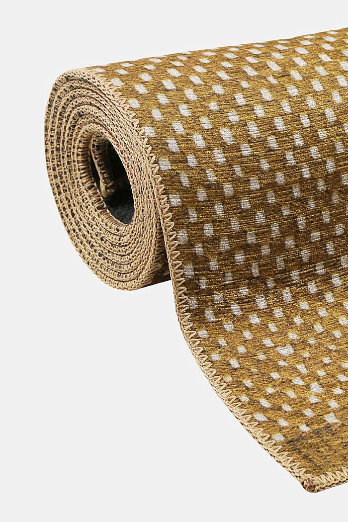 Kurzflor-Teppich mit upgecycelter Baumwolle, HONEY YELLOW, detail image number 6