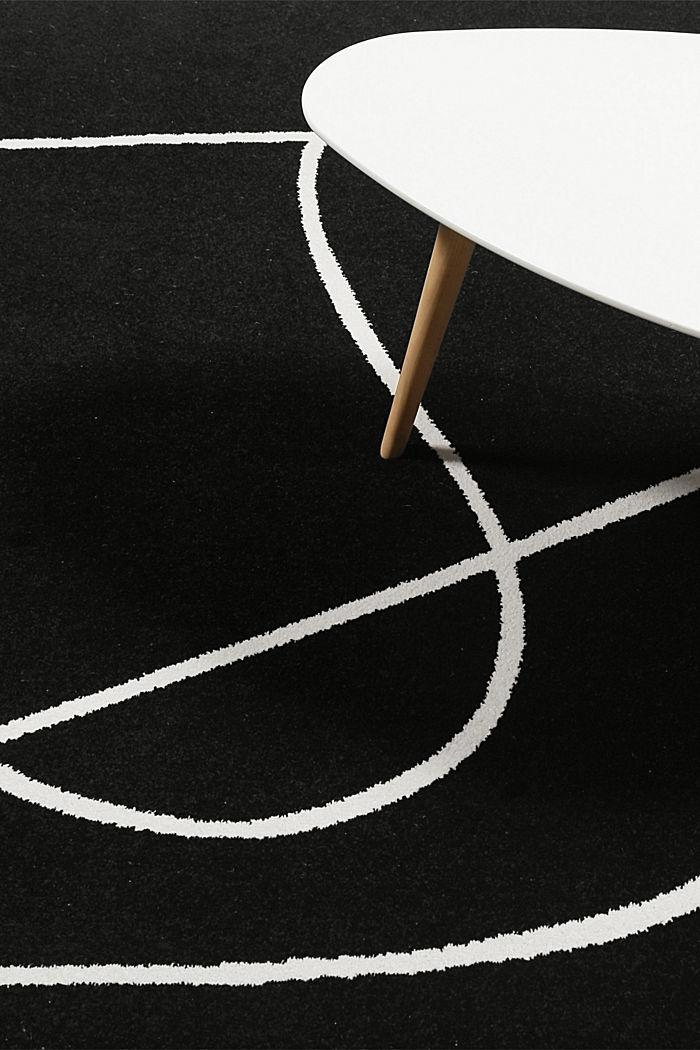 Kurzflor-Teppich mit Art-Dessin