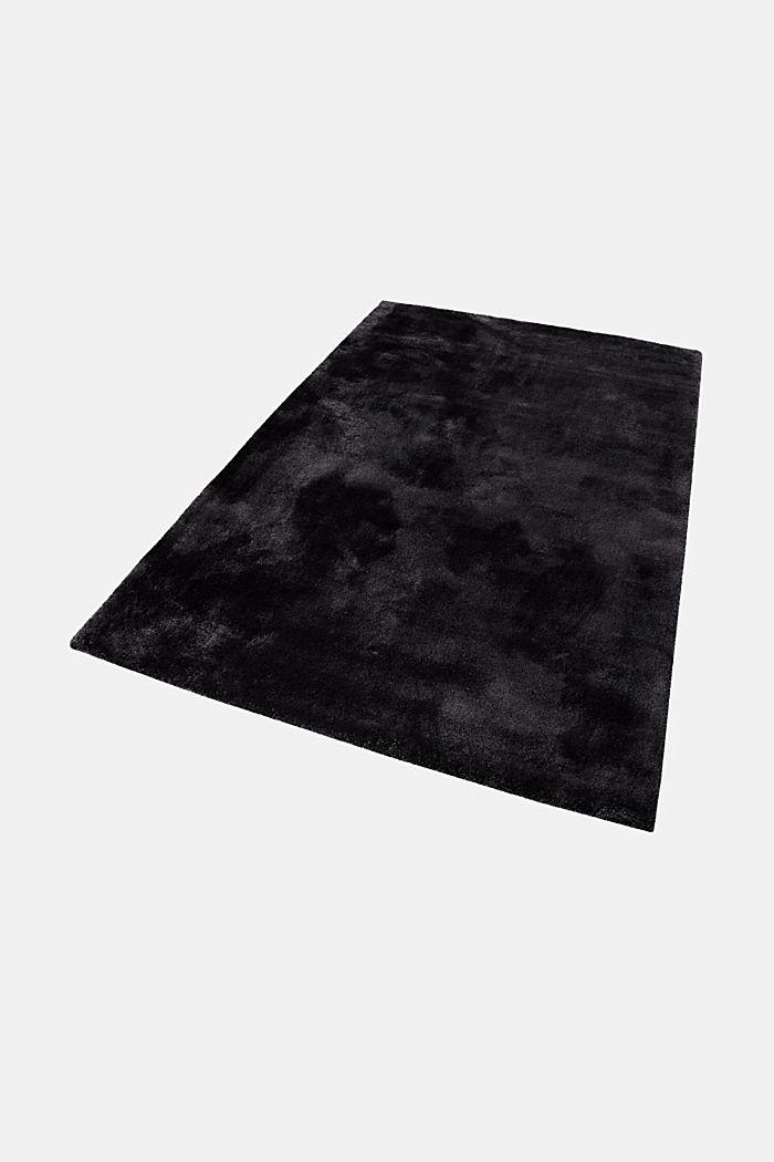 Hochflor-Teppich im unifarbenen Design, BLACK, detail image number 5