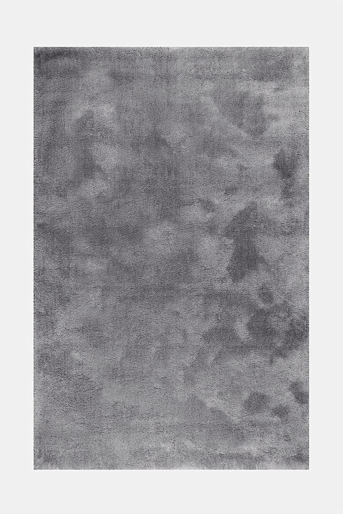 Hochflor-Teppich im unifarbenen Design, BROWN GREY, detail image number 6