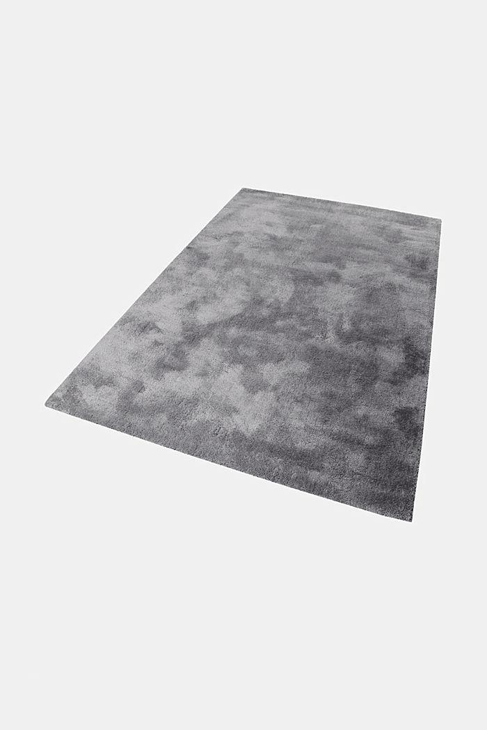 Hochflor-Teppich im unifarbenen Design, BROWN GREY, detail image number 5