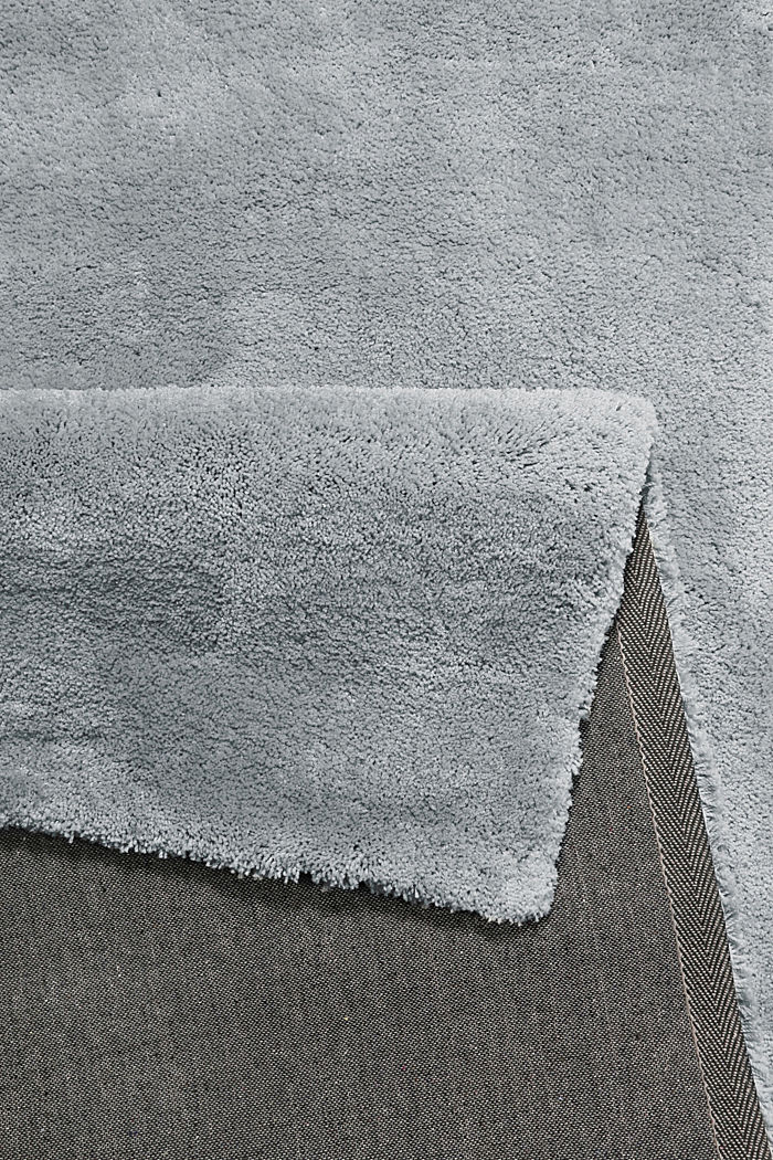 Hochflor-Teppich im unifarbenen Design, BROWN GREY, detail image number 2