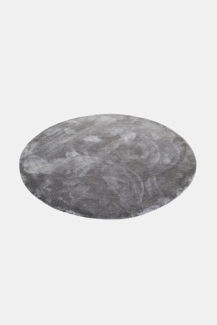 Hochflor-Teppich im unifarbenen Design, BROWN GREY, detail image number 3