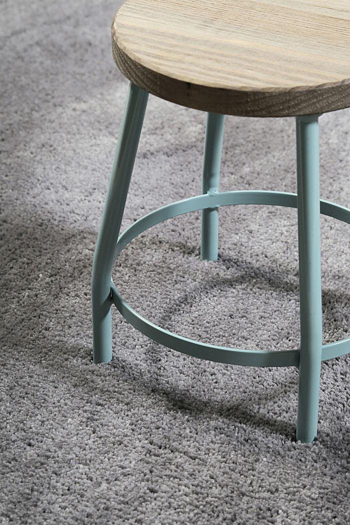 Hochflor-Teppich im unifarbenen Design, BROWN GREY, detail image number 1