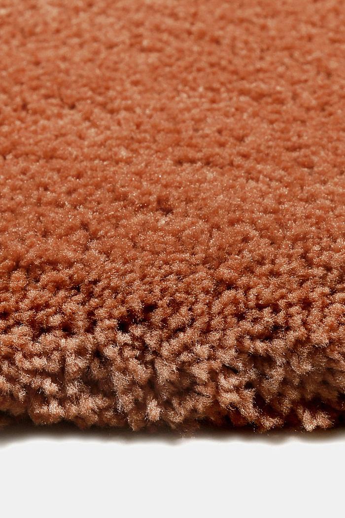 Hochflor-Teppich im unifarbenen Design, TOFFEE, detail image number 6