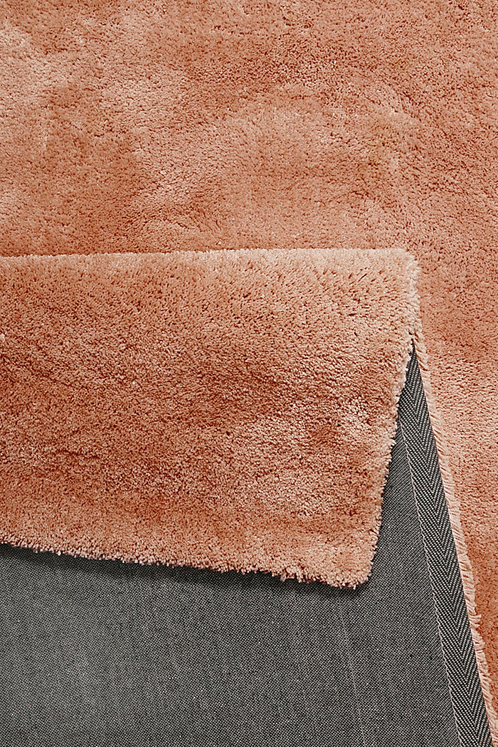 Hochflor-Teppich im unifarbenen Design, TOFFEE, detail image number 2