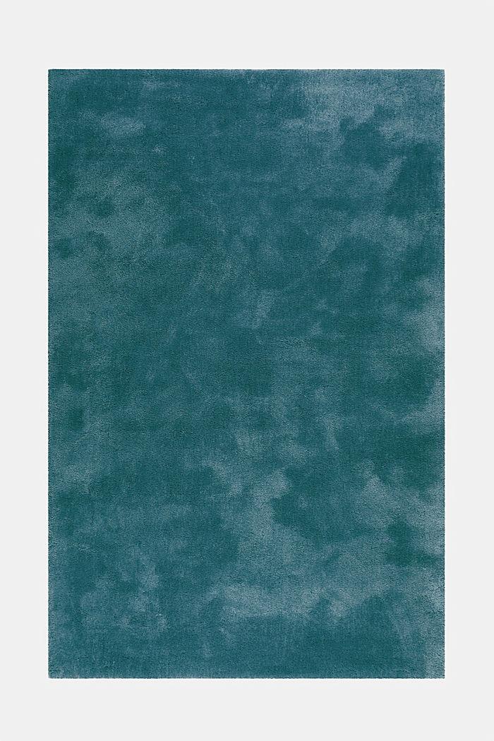 Hochflor-Teppich im unifarbenen Design, EMERALD GREEN, detail image number 6