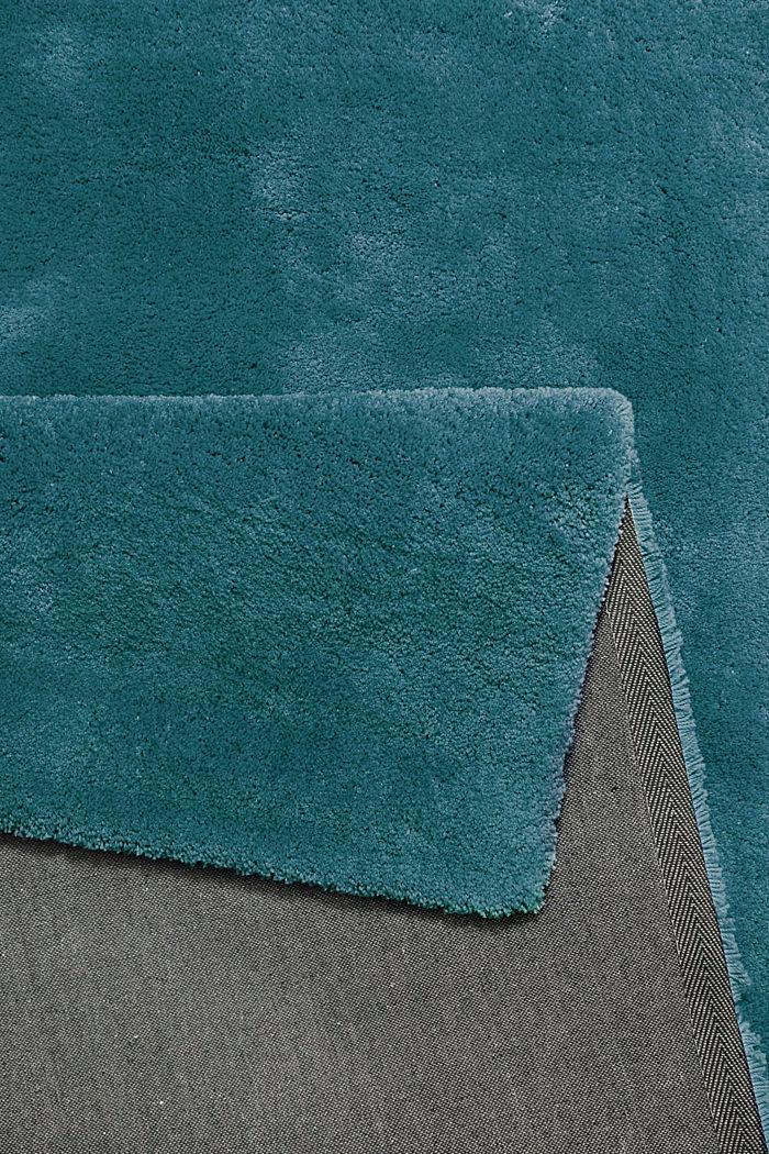 Hochflor-Teppich im unifarbenen Design, EMERALD GREEN, detail image number 2