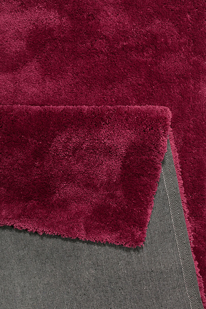 Hochflor-Teppich im unifarbenen Design, RED, detail image number 2