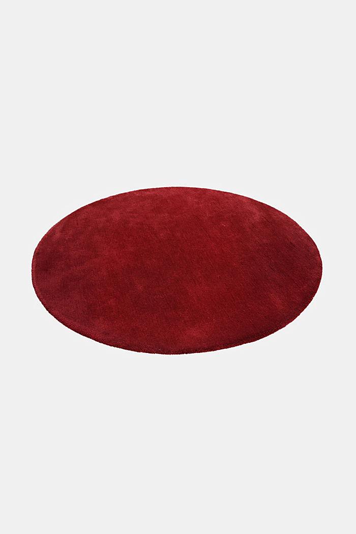 Hochflor-Teppich im unifarbenen Design, RED, detail image number 3