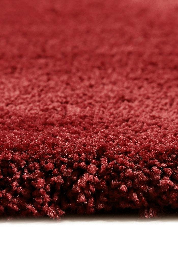 Hochflor-Teppich im unifarbenen Design, RED, detail image number 1