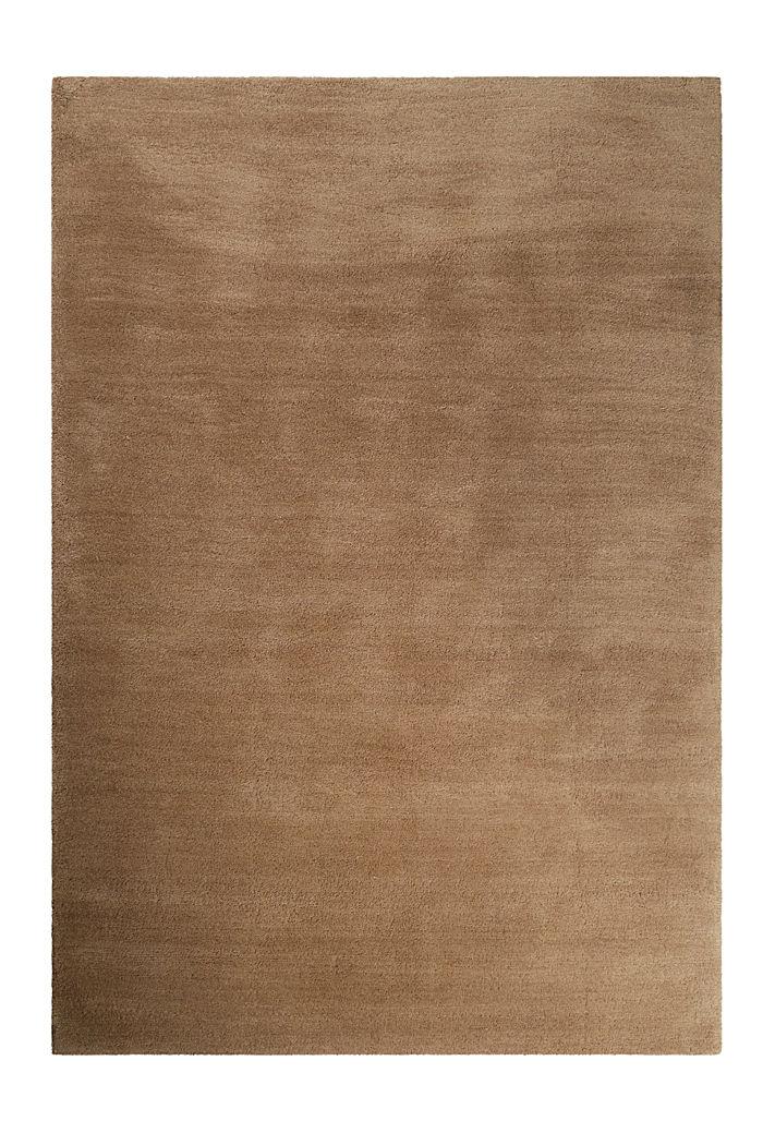 Hochflor-Teppich in vielen Trendfarben, NOUGAT, detail image number 0