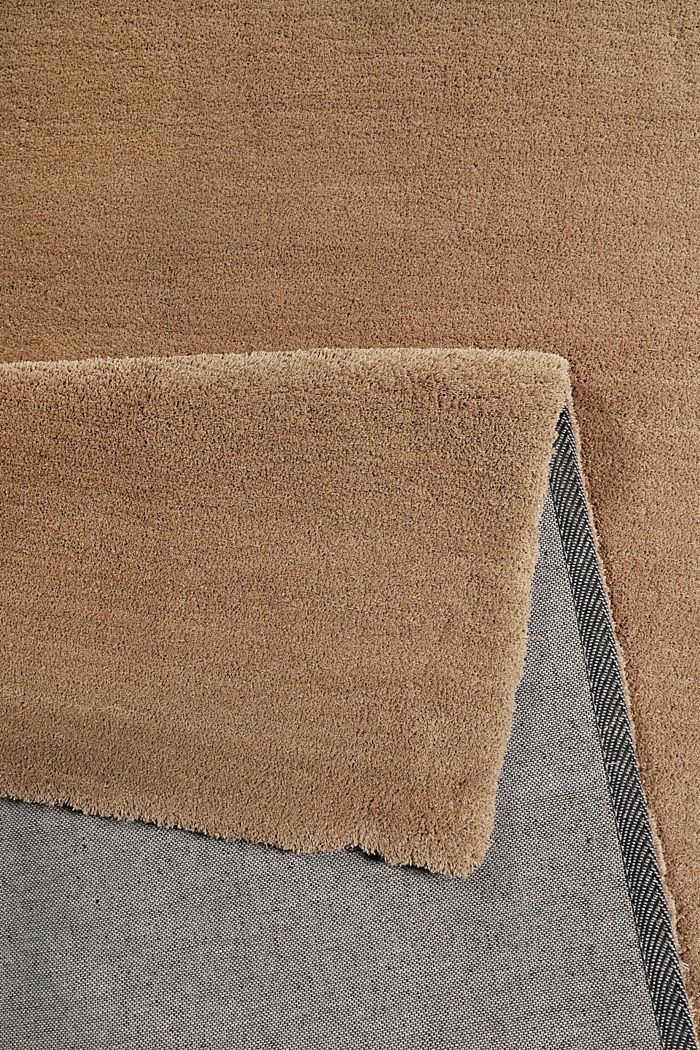 Hochflor-Teppich in vielen Trendfarben, NOUGAT, detail image number 1