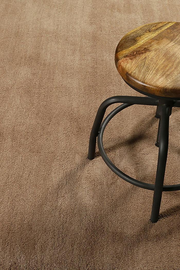 Hochflor-Teppich in vielen Trendfarben, NOUGAT, detail image number 2