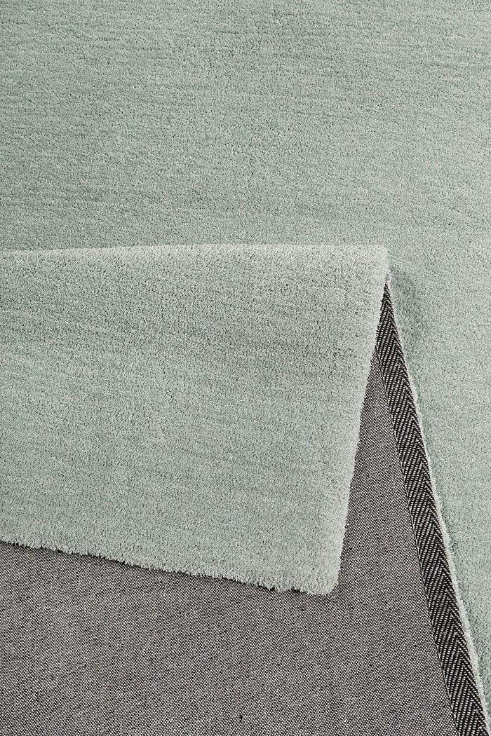 Hochflor-Teppich in vielen Trendfarben, LIGHT GREEN, detail image number 2
