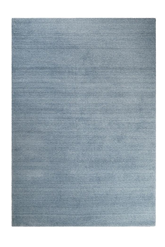 Hochflor-Teppich in vielen Trendfarben, MIDDLE BLUE, detail image number 0