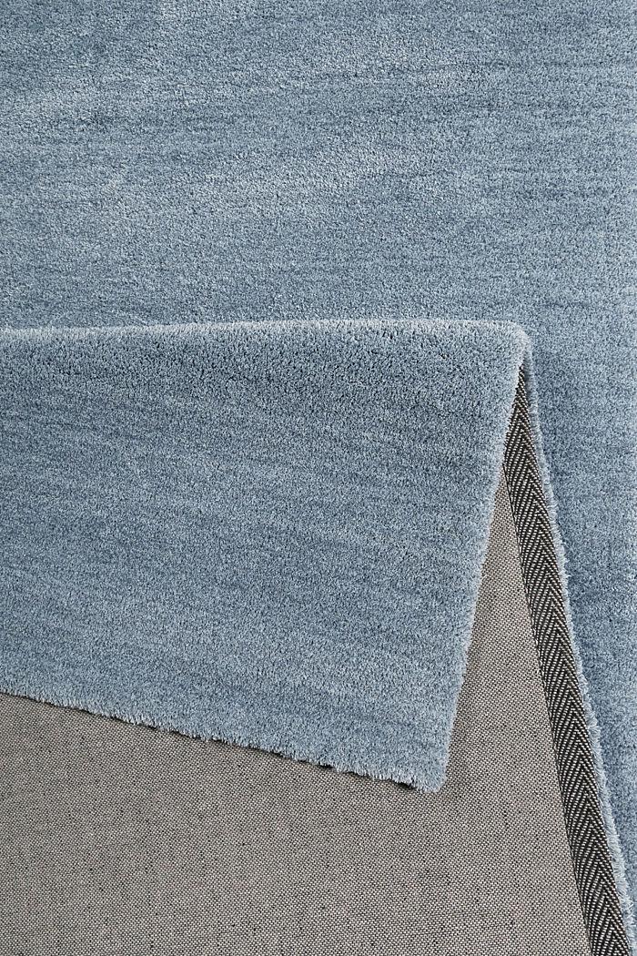 Hochflor-Teppich in vielen Trendfarben, MIDDLE BLUE, detail image number 2