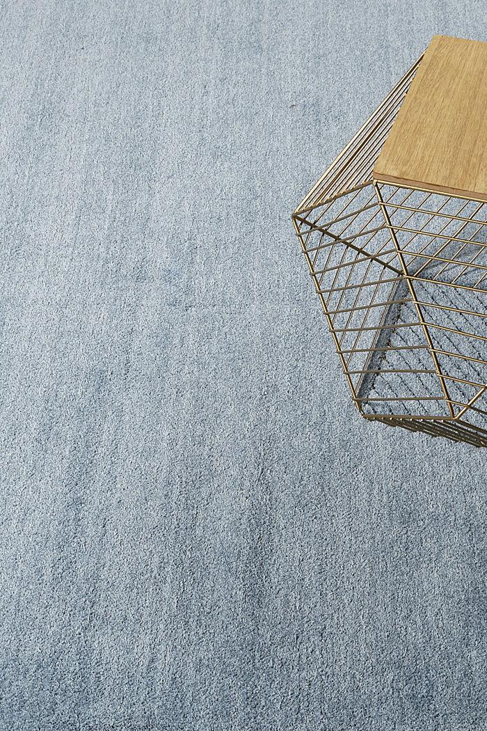 Hochflor-Teppich in vielen Trendfarben, MIDDLE BLUE, detail image number 3