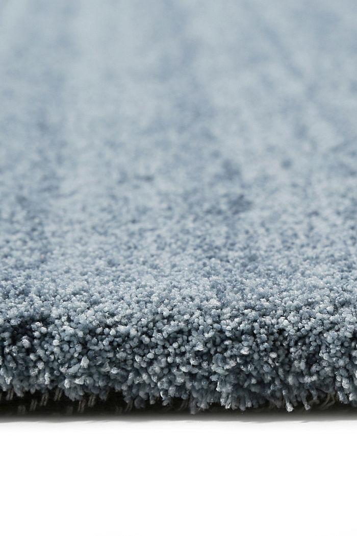 Hochflor-Teppich in vielen Trendfarben, MIDDLE BLUE, detail image number 1