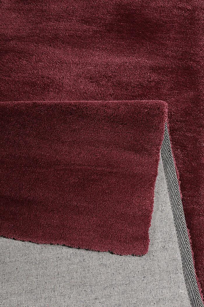 Hochflor-Teppich in vielen Trendfarben, BORDEAUX, detail image number 2