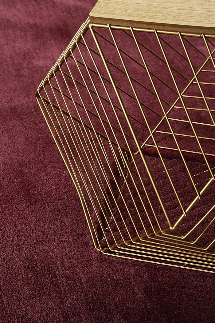 Hochflor-Teppich in vielen Trendfarben, BORDEAUX, detail image number 3