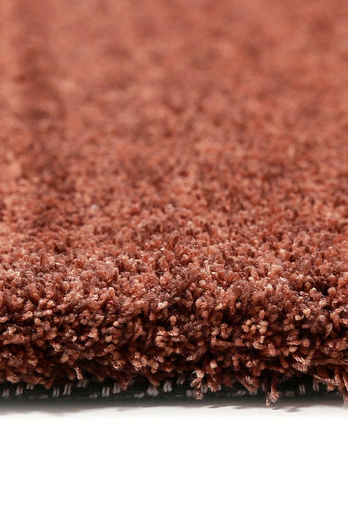 Hochflor-Teppich in vielen Trendfarben, RED BROWN, detail image number 1