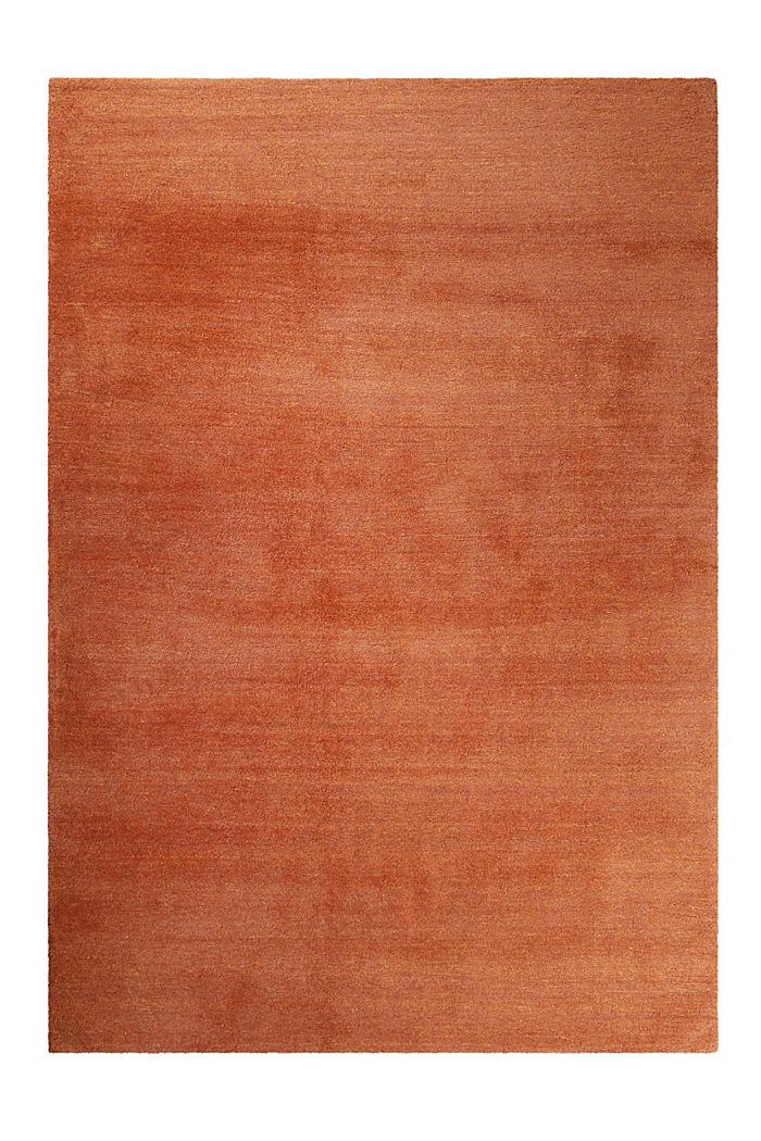 Hochflor-Teppich in vielen Trendfarben, ORANGE, detail image number 0