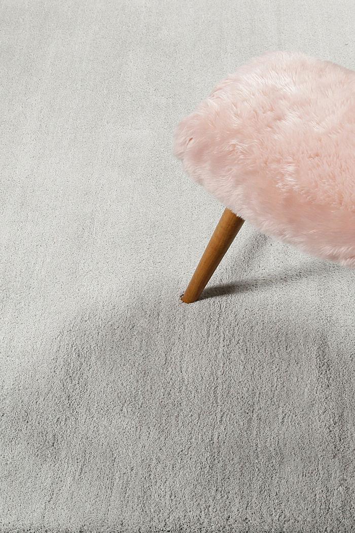 Hochflor-Teppich in vielen Trendfarben, LIGHT GREY, detail image number 3