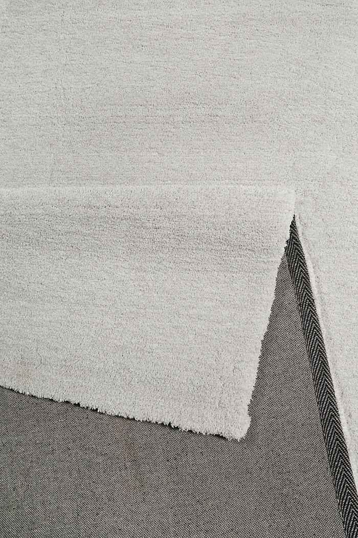 Hochflor-Teppich in vielen Trendfarben, PASTEL GREY, detail image number 2
