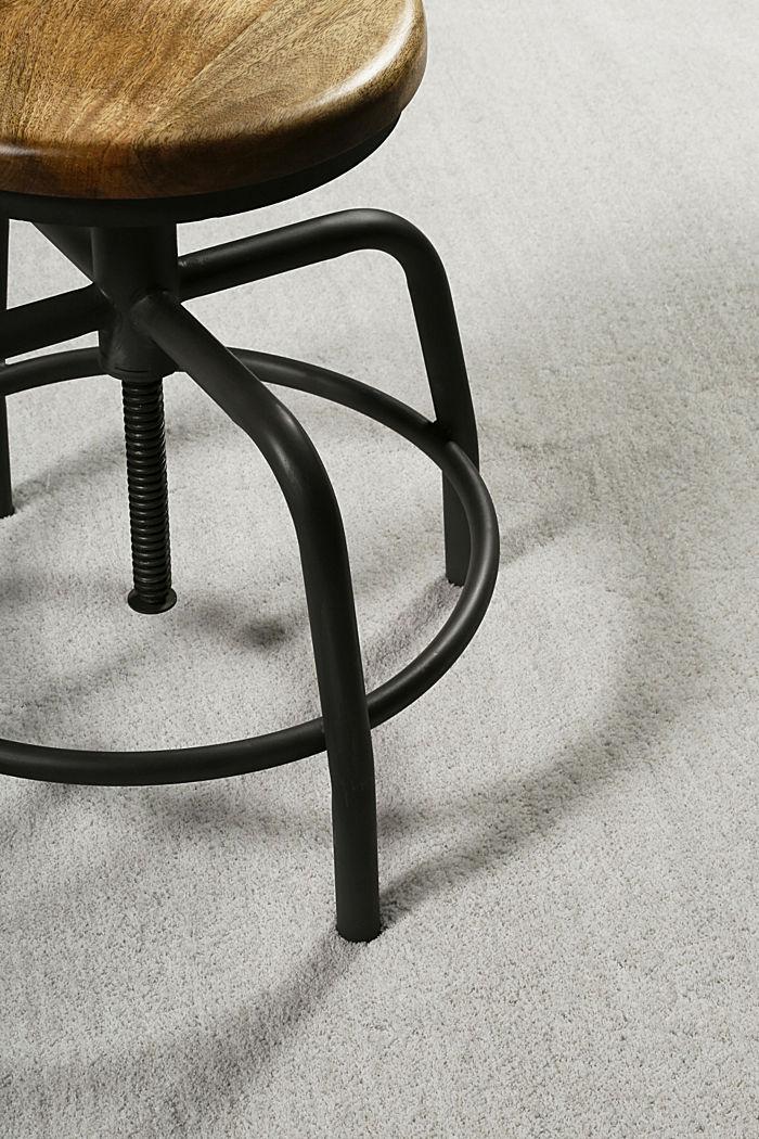 Hochflor-Teppich in vielen Trendfarben, PASTEL GREY, detail image number 3