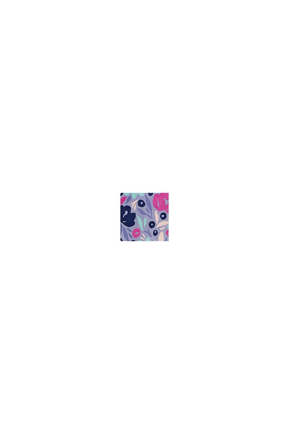 Handgetufteter Kurzflor-Teppich mit Blüten-Muster, BLUE, swatch