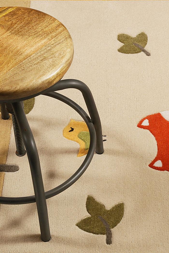 Kinderteppich mit Konturenschnitt, BEIGE, detail image number 1