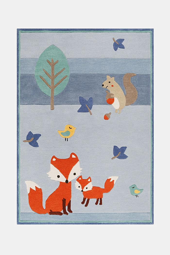 Kinderteppich mit Konturenschnitt, BLUE, detail image number 0