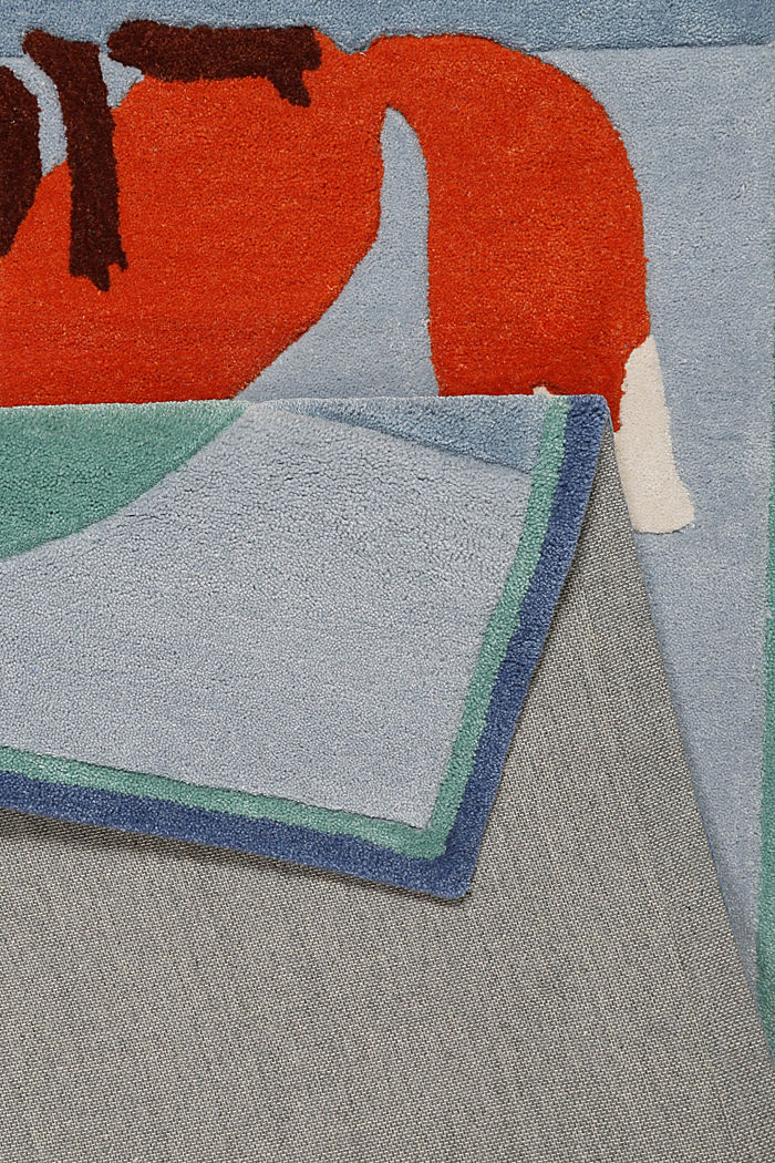 Kinderteppich mit Konturenschnitt, BLUE, detail image number 2