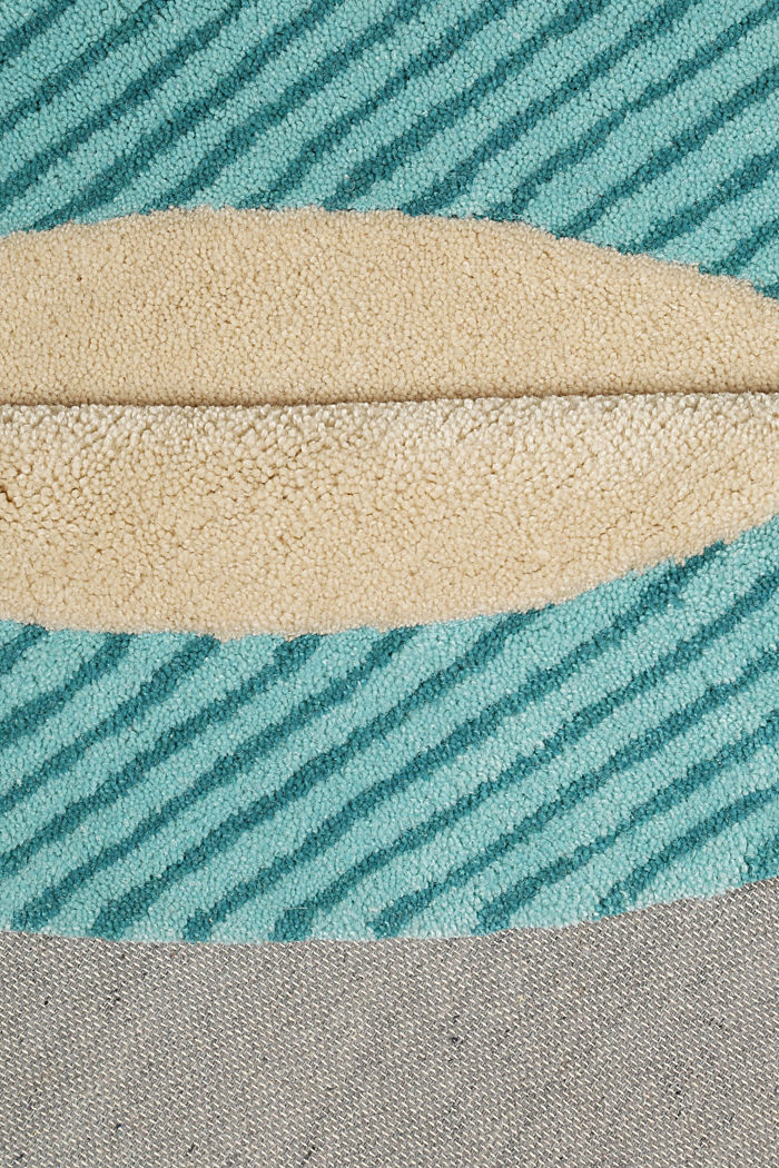 Kinderteppich mit fröhlichem Tukan, TURQUOISE, detail image number 2