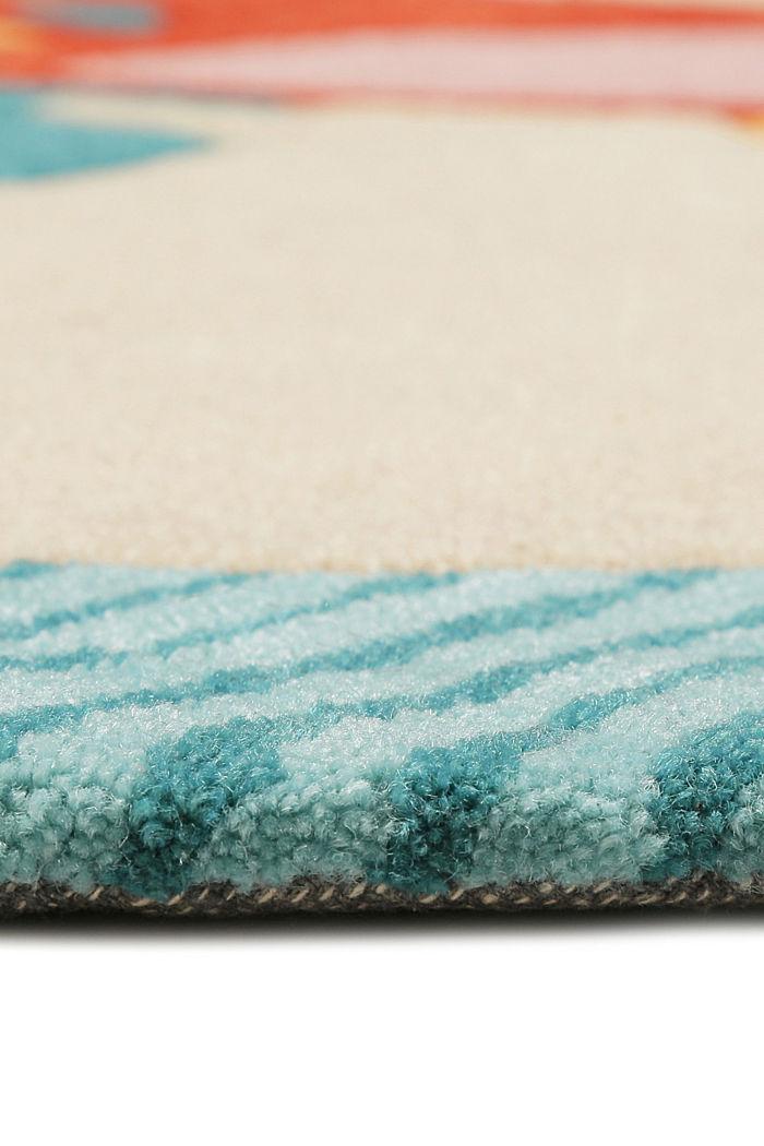 Kinderteppich mit fröhlichem Tukan, TURQUOISE, detail image number 3