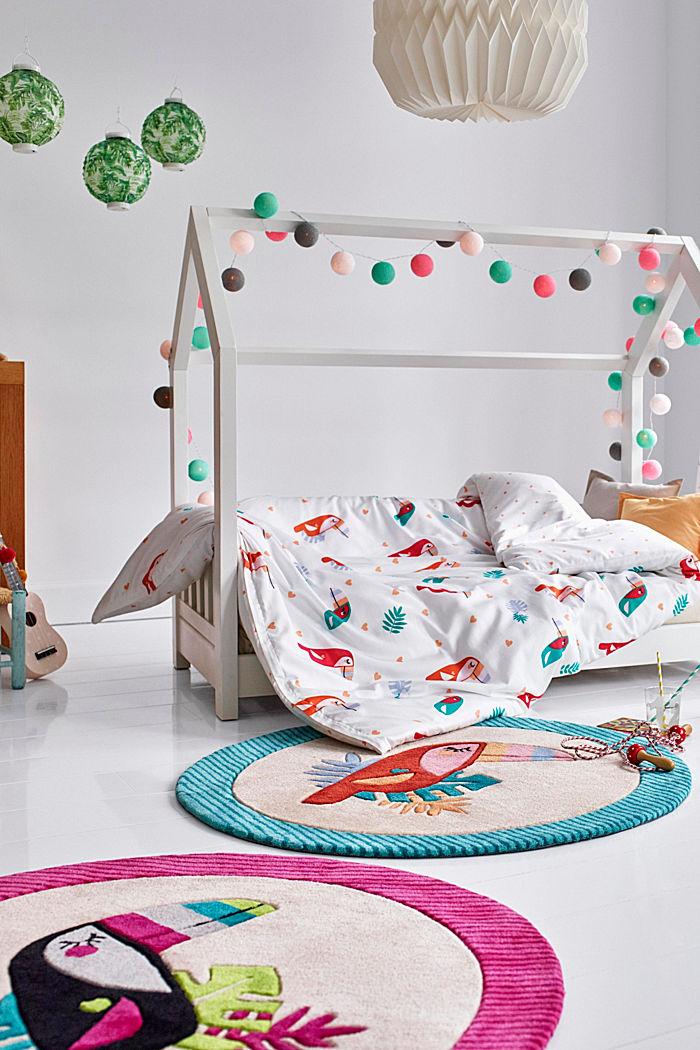 Kinderteppich mit fröhlichem Tukan, PINK, detail image number 0