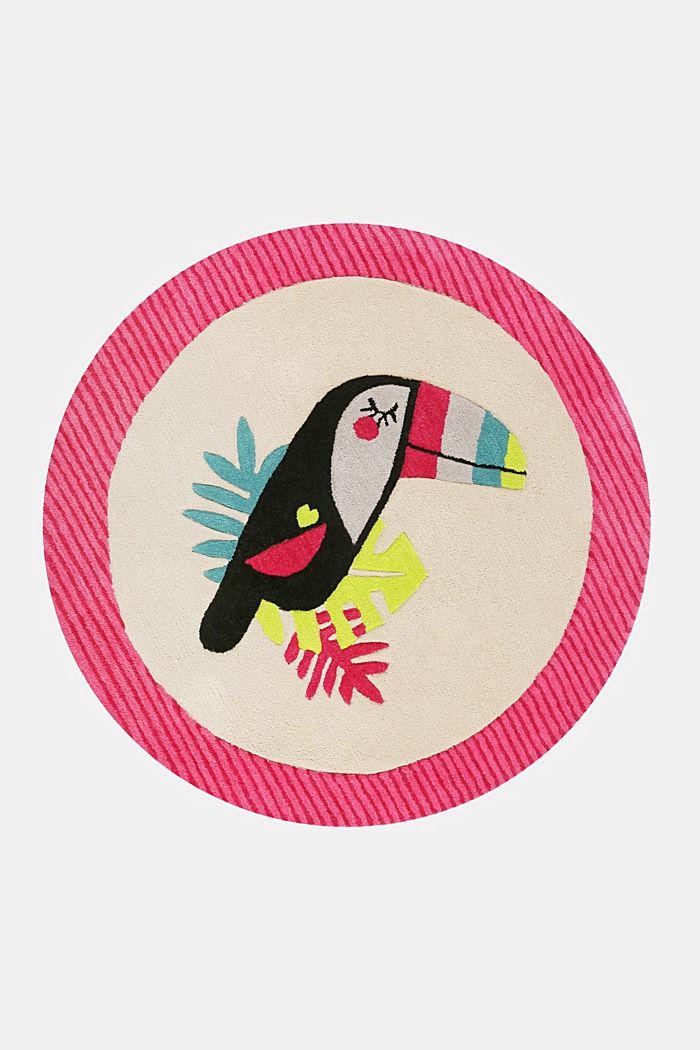 Kinderteppich mit fröhlichem Tukan, PINK, detail image number 4