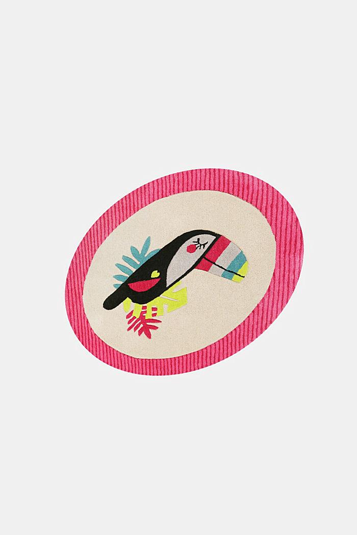 Kinderteppich mit fröhlichem Tukan, PINK, detail image number 3
