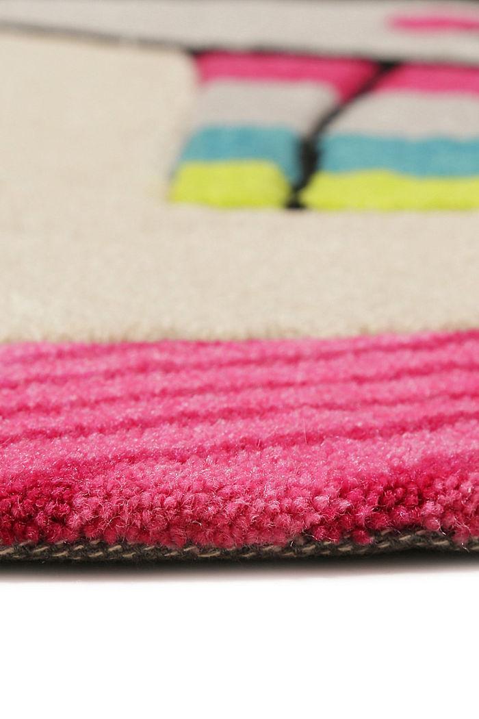 Kinderteppich mit fröhlichem Tukan, PINK, detail image number 1
