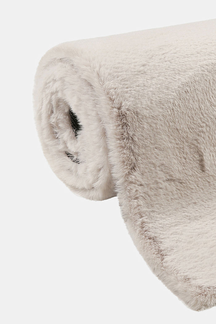 Hochflor-Teppich im Teddy Look, LIGHT SILVER, detail image number 3