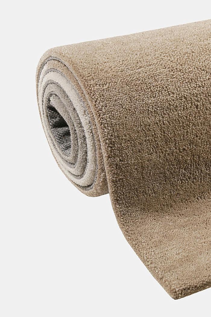 Handgetufteter Teppich mit Konturenschnitt, BEIGE, detail image number 5