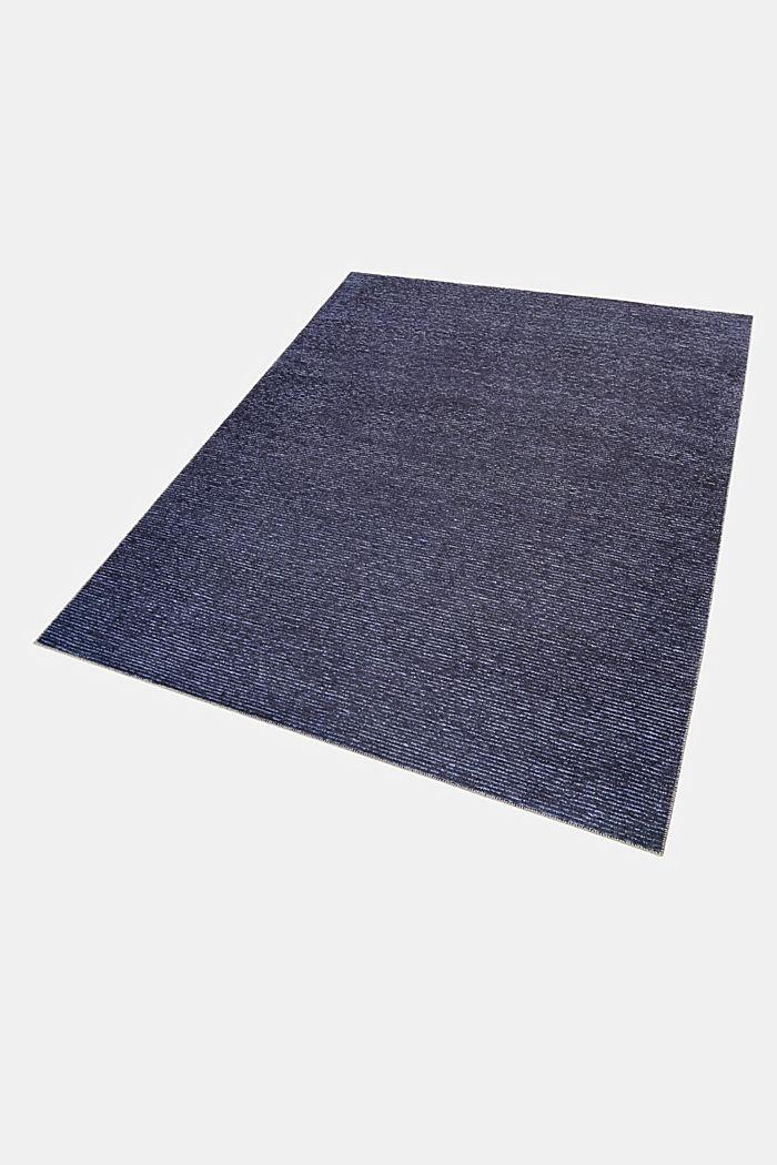 Kurzflor-Teppich mit upgecycelter Baumwolle, DARK BLUE, detail image number 4