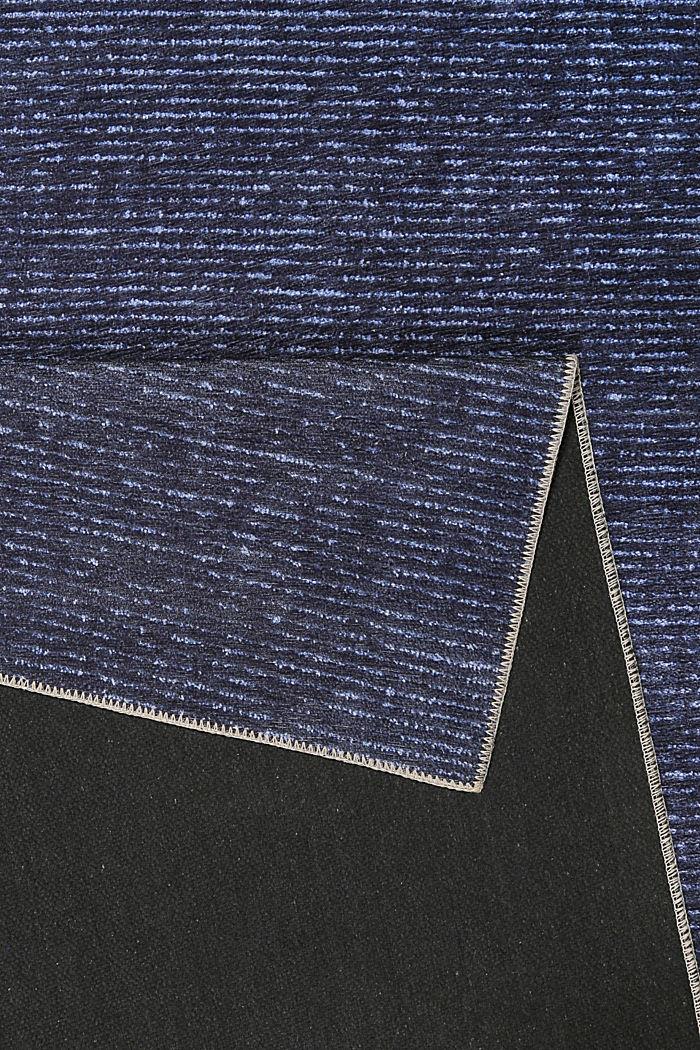 Kurzflor-Teppich mit upgecycelter Baumwolle, DARK BLUE, detail image number 2