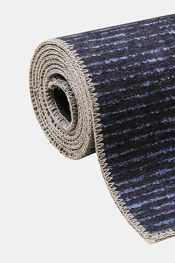 Kurzflor-Teppich mit upgecycelter Baumwolle, DARK BLUE, detail image number 3