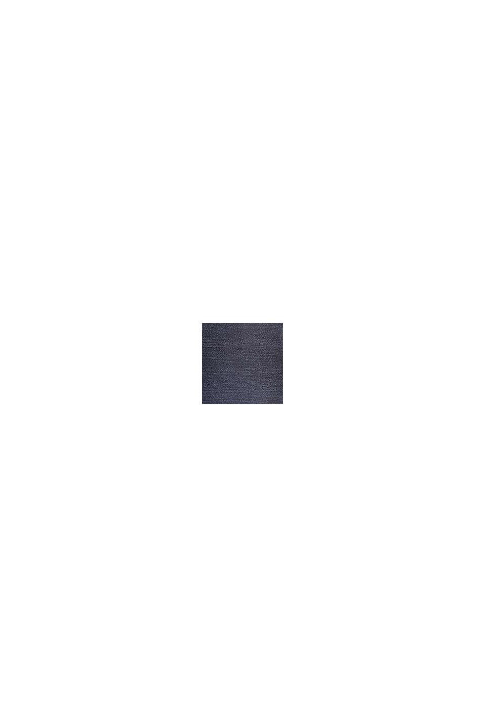 Kurzflor-Teppich mit upgecycelter Baumwolle, DARK BLUE, swatch