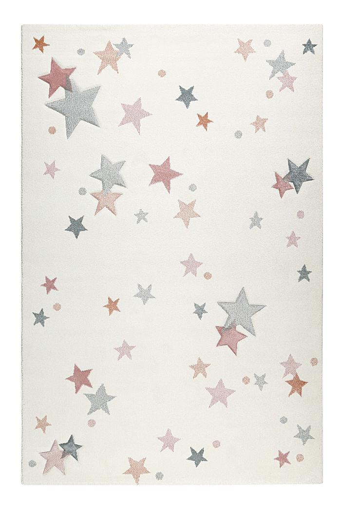 Kinder-Kurzflorteppich mit Sternen