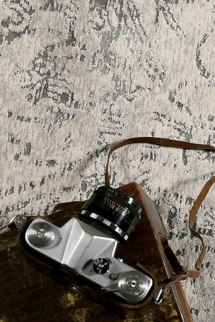 Web-Teppich mit Ausbrenner-Technik, GRAU, detail image number 2